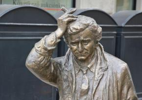 Why is there a Columbo statue in Budapest?