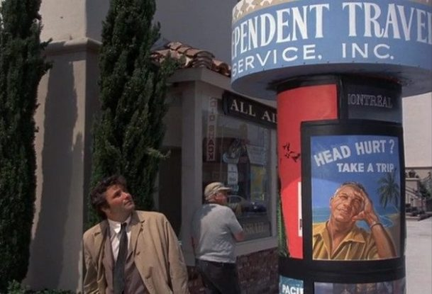 Columbo Most Crucial Game travel agent